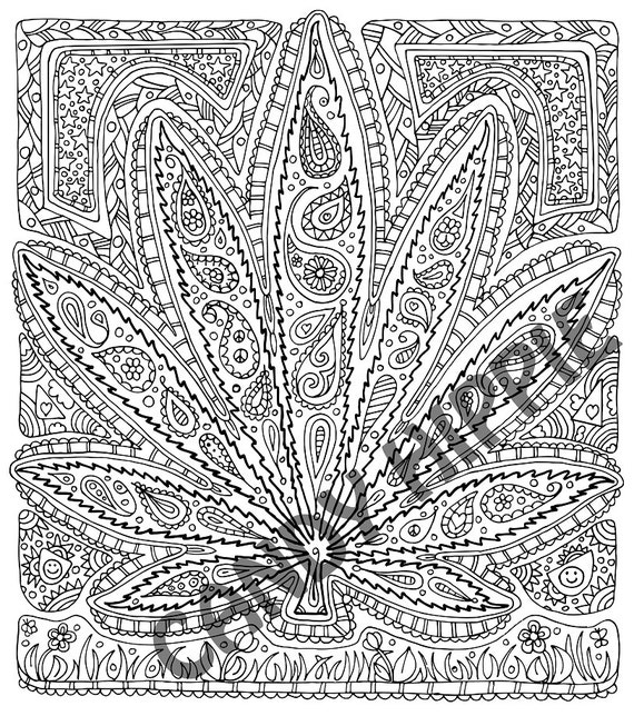 leaf coloring pages for adults - photo#41