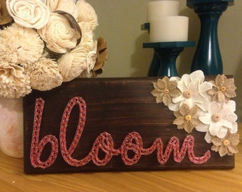 Bloom string art board