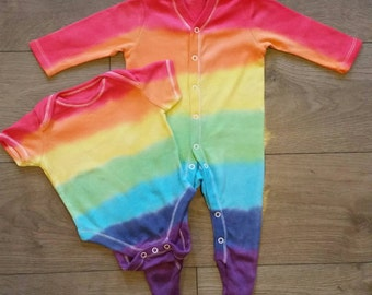 Rainbow baby sleepsuit and vest set 2-3 years