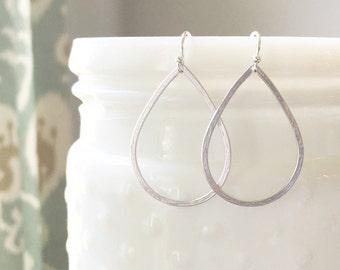MIA | Silver Teardrop Earrings | Simple Silver Earrings | Minimal Earrings Silver | Light Earrings | Dainty Teardrop Earrings Silver