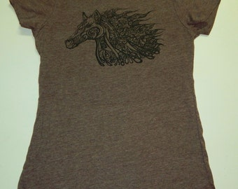 Horse T-Shirt, One Of A Kind Hand Drawn, Next Level T