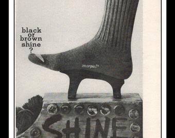 "Vintage Print Ad September 1962 : Morpul Action Cuff Socks Fashion Clothing Wall Art Decor 5.5"" x 11"" Advertisement"