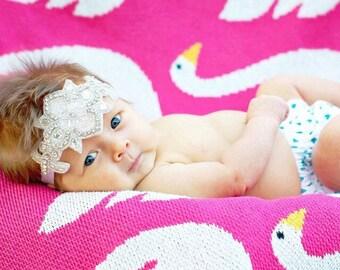 Luxe Headband, Baby, Girl Headband, Baby Headband, Newborn Headband, Newborn, Photo Props, Little Girl Headband, Rhinestone Baby Headband