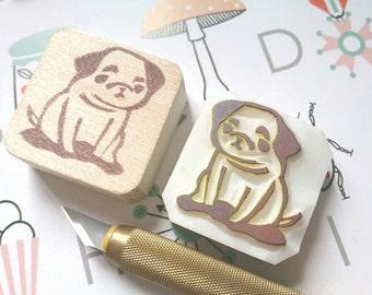J.B @ Kingsman Pug stamp