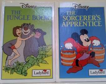 Ladybird Books, The Jungle Book & The Sorcerer's Apprentice, Disney Childrens Books *PRICE FOR 2 BOOKS*Disney's Books,Gift For Children