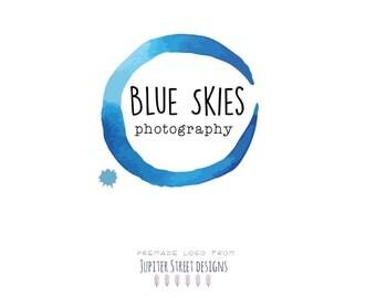 Logo Designs-Circle Logo-Photographer Logo-Blue Logo