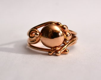 14kt Yellow Gold Wire Sculpture Ring