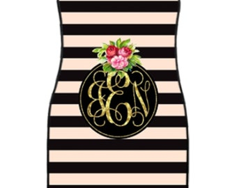 Kate Spade Inspired Monogrammed Car Mats! Design your Own!
