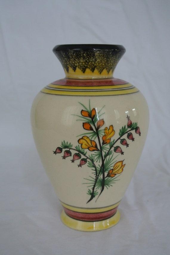 hb henriot quimper flowered vase by vintagecreole on etsy. Black Bedroom Furniture Sets. Home Design Ideas