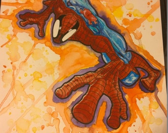 Spider-man Original Watercolor