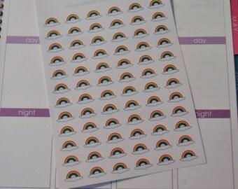 Rainbow Stickers for Erin Condren Life Planner Plum Paper Planner Calendar Stickers Rainbows Clouds
