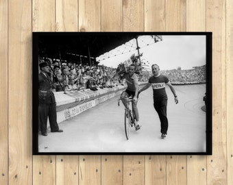 Tour de France Photography Print 1951 - Cycling Poster Bicycle Tour De France Poster Cycling Wall Art-  t