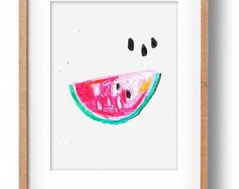 Okay Luna 'Watermelon' A4 Print