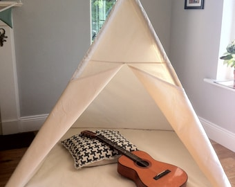 Large Tepee children's play tent with hardwood poles option
