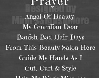 Printable Hairstylist's Prayer Download - Print and Frame For Your Favorite Stylist Today!