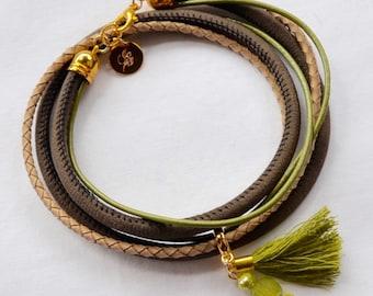 Wrap bracelet lime