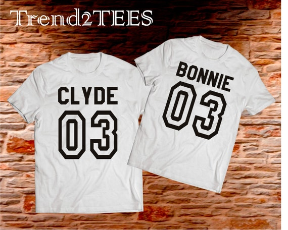 bonnie and clyde shirts 03 t shirts set couple by trend2tees. Black Bedroom Furniture Sets. Home Design Ideas