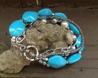 Taste of the sky. Multi-strand bracelet