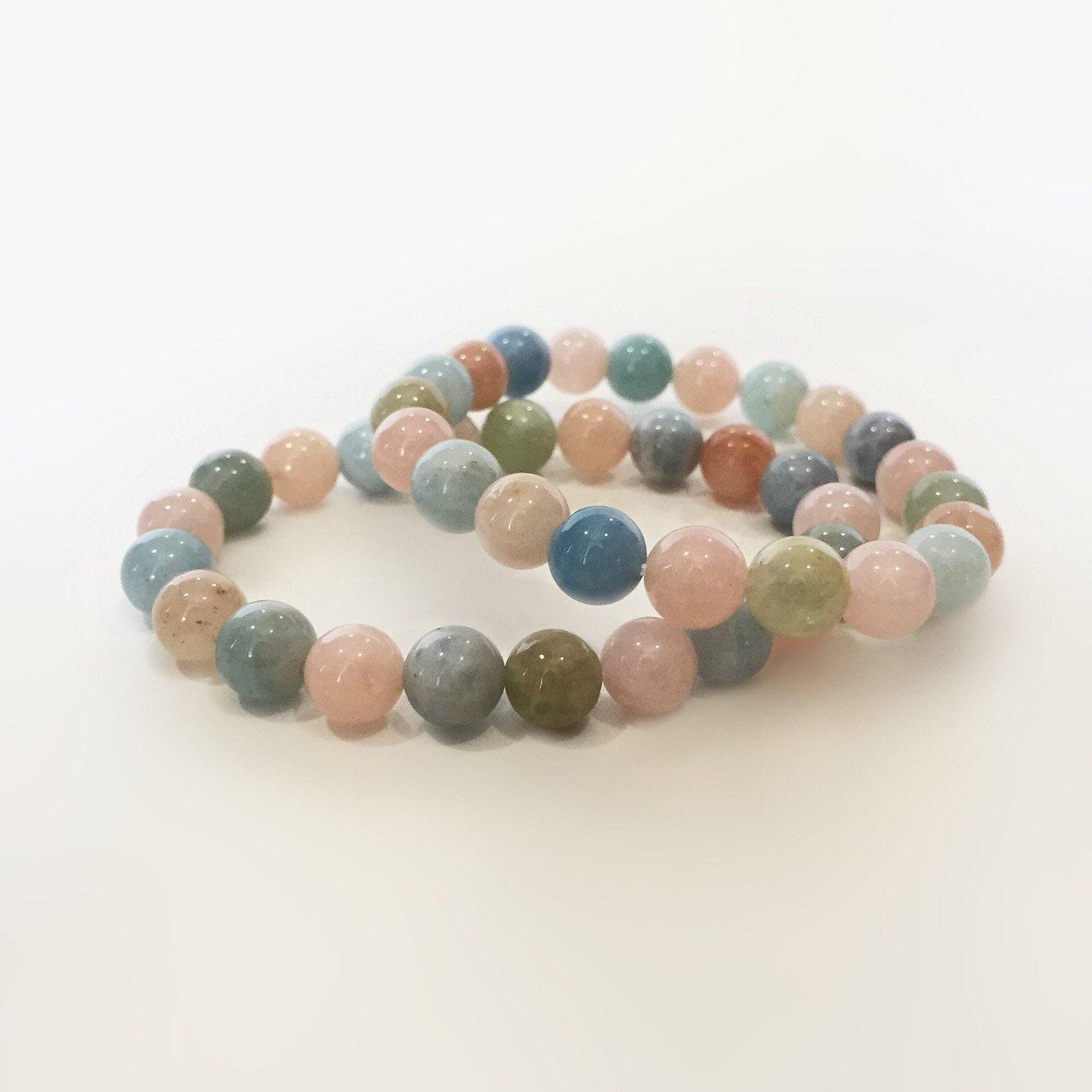 beryl bracelet gemstone bracelet pastel bracelet multicolor