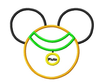 Character Inspired Pluto Dog Embroidery Applique Design