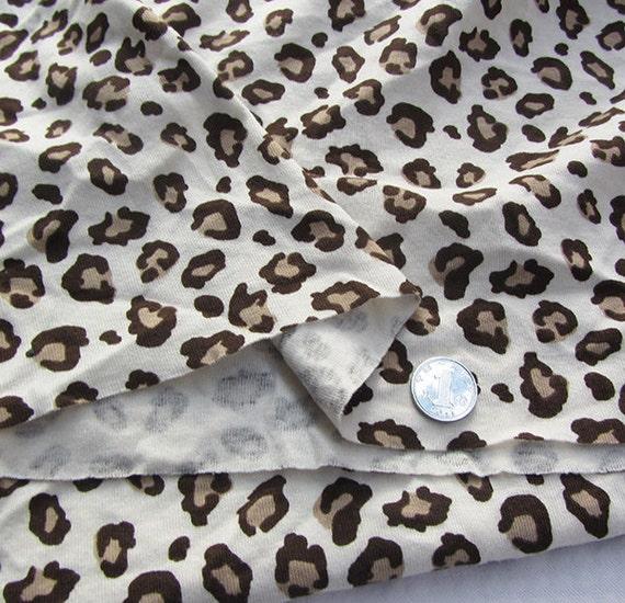 Kids baby print rib knit fabric leopard prints 100 cotton for Knit fabric childrens prints