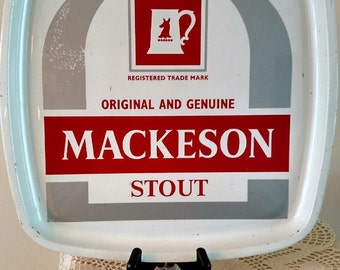 "Mackenson Stout Metal Beer Tray 12"" x12"""