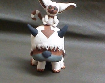 Appa and Momo Clay Cake Toppers/ Miniature Scultures (Avatar the Last Airbender)