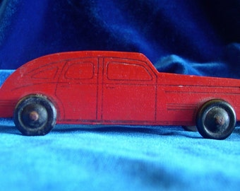 1940's Wooden Toy Car World War II Collectible Father's Day Gift!