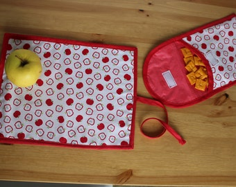 Reusable snack bag and place mat