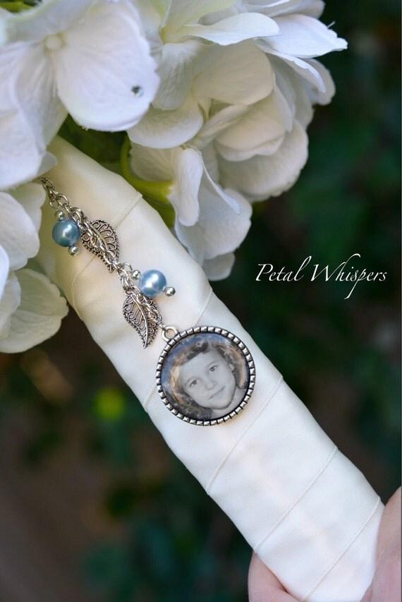 Blue Bridal Bouquet Charm : Items similar to bridal bouquet picture charm wedding