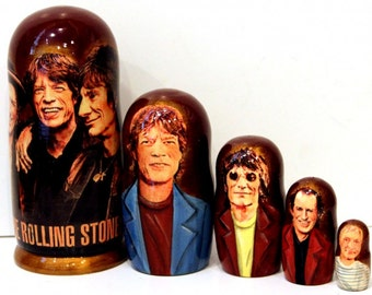 Nesting doll #510 The Rolling Stones