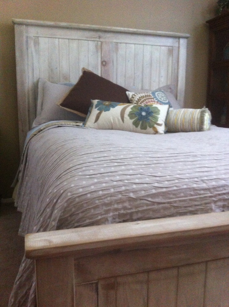 Bed Queen King Headboard Cottage Reclaimed By Vintagemillwerks