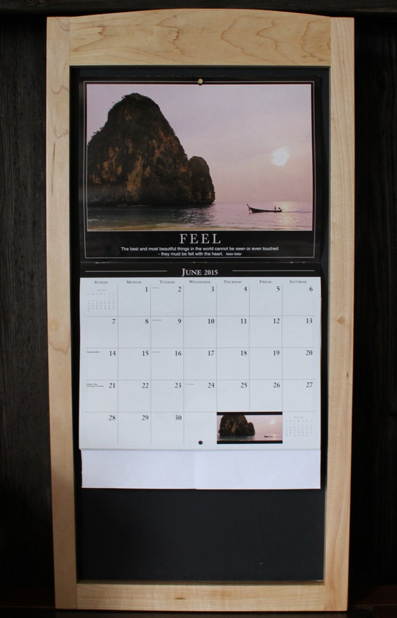 Chalkboard Calendar Framed : Wood calendar frame chalk board