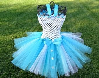 Frozen Elsa Inspired Tutu Dress, Birthday  Elsa Tutu Costume
