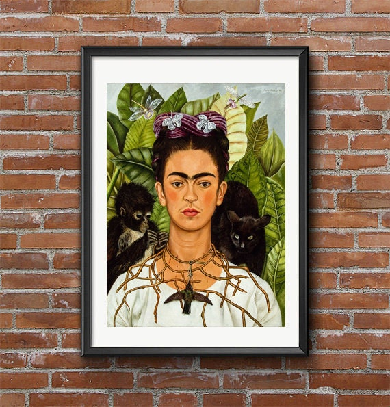 frida kahlo self portrait with thorn necklace and hummingbird essay Important art by frida kahlo with artwork analysis of self-portrait with thorn necklace and the meaning of a 'dead' hummingbird is be reversed kahlo.