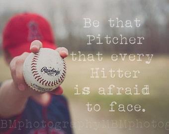 8x10 Pitcher Baseball Print