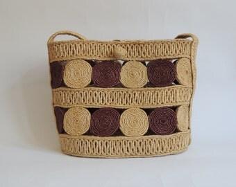 Vintage Straw Bag/ Summer Bag/ Shoulder Bag