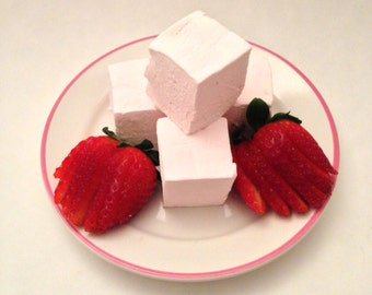 Fresh Strawberry Marshmallows - Gifts for Her, Gifts for Him