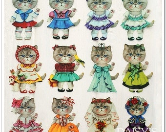 Cat Collection Offset Printing Iron On Transfer Hot Flocking Tape Sticker Plate Backing Painting