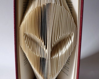 Gift for him for her - Alien - Folded book - Sculpture - Birthday present - Recycling