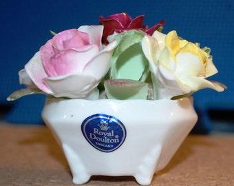 Beautiful 1961 English Royal Doulton Bone China Flowers