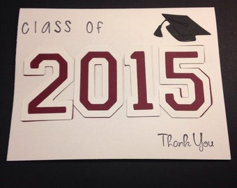 Graduation Thank You Cards set of 25