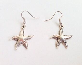 Starfish Earrings - Starfish Charm Earrings - Starfish Jewelry - Seaside Jewelry