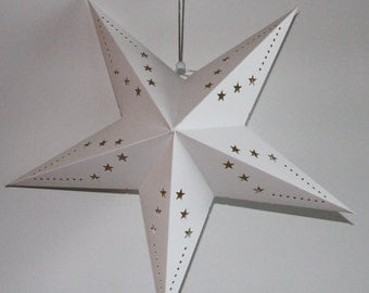Paper Star White Hanging Decoration