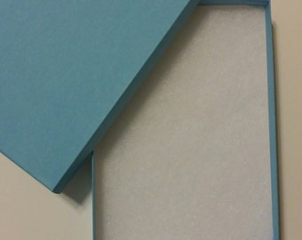 "Set of 5  | 5"" x 7"" x 1.25"" Light Blue jewelry/Invitation/Presentation Boxes"