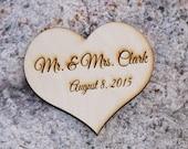 "5"" Custom engraved Heart > 5"" inches custom heart > 13 cm heart > Custom Wedding heart > Heart with engraved couple names > mr and mrs heart"