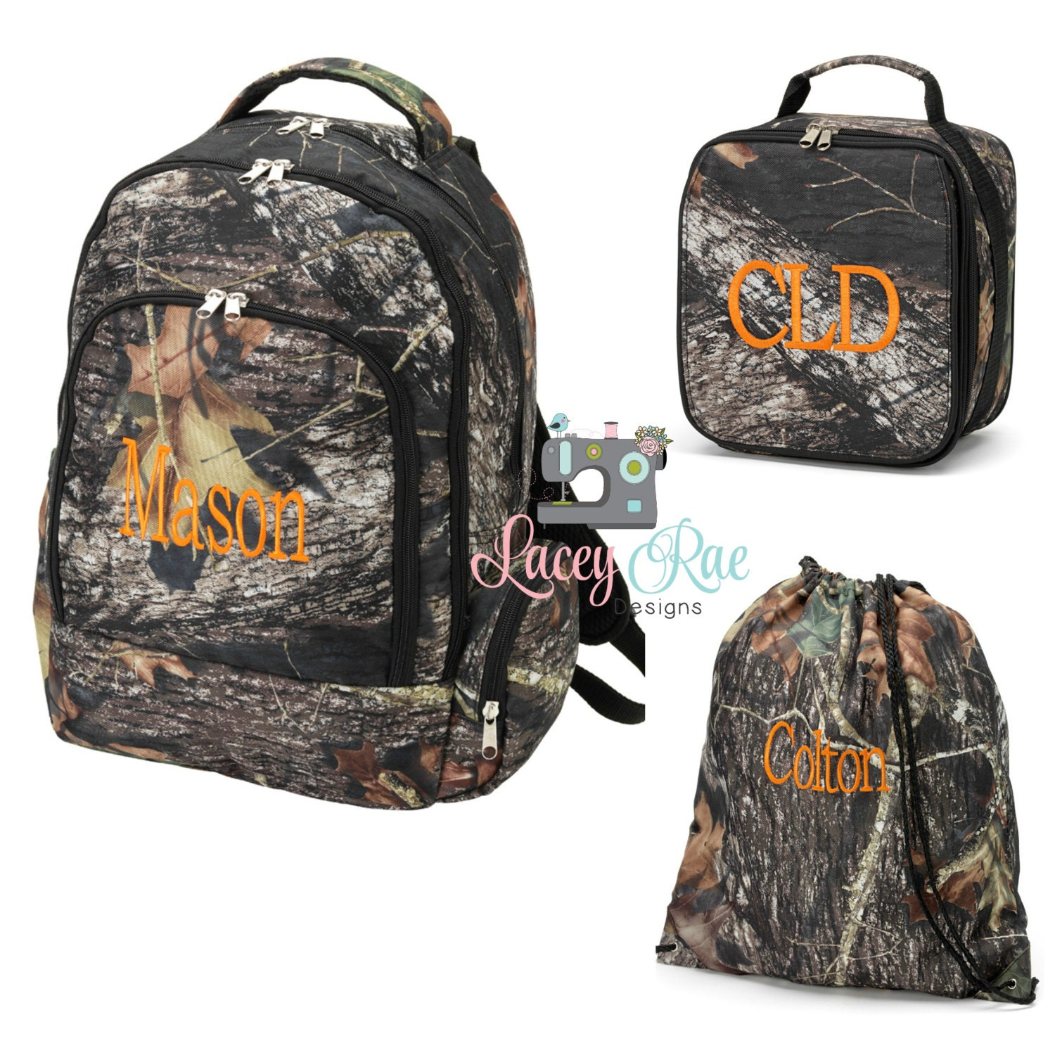 Camo Personalized Backpack Lunchbox Preschool backpack