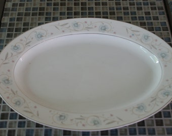 Fine China of Japan, English Garden, 14 inch Oval Platter
