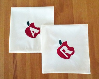 Personalized  Napkins - Rosh Hashana - Set of 2 - Jewish New Year- Apple Napkins