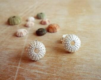 Sterling Silver Sea Urchin Stud Earrings